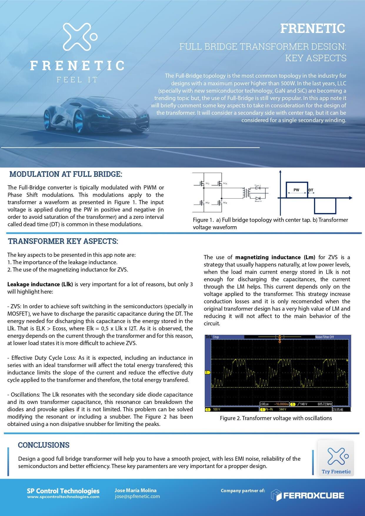 FULL BRIDGE TRANSFORMER DESIGN: KEY ASPECTS