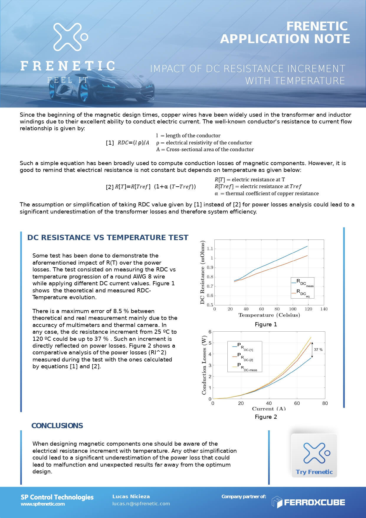 IMPACT OF DC RESISTANCE INCREMENT WITH TEMPERATURE